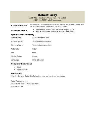 Biodata Briefformat Biodata What It Is 7 Biodata Resume Templates