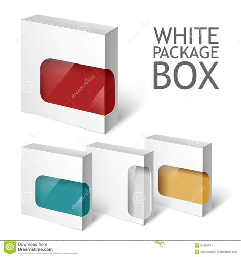 package template set of white package box mockup template stock vector