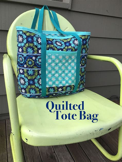avon quilted pattern tote bag sew a quilted fabric tote bag tote bag pre quilted
