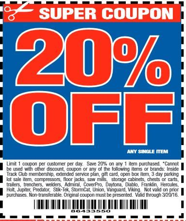harbor freight coupons 20 off printable harbor freight 20 off coupon 2016 printable 2017 2018