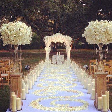 wedding ceremony decor wedding aisle decor door decor romantic outdoor wedding aisles you ll love weddceremony com