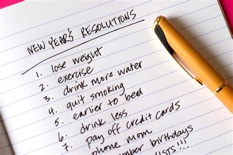 setting new year s resolutions is good for you valley