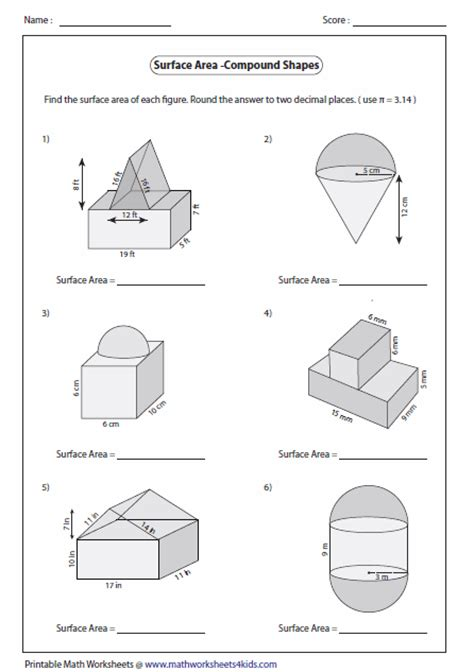 Area Compound Shapes Worksheet Answers by Area Compound Shapes Worksheet Free Worksheets Library