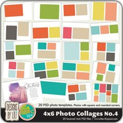 4x6 mini photoshop collage templates instagram layered psd collage templates 3x4 4x4 4x6