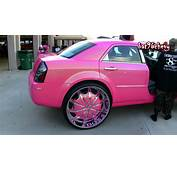 Females OUTRAGEOUS PINK Chrysler 300 On 30s  1080p HD