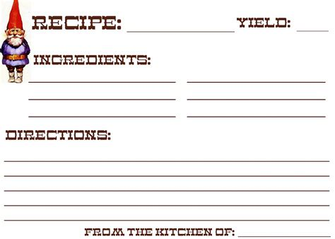 printable recipe card full page 10 best images of index card free printables recipes