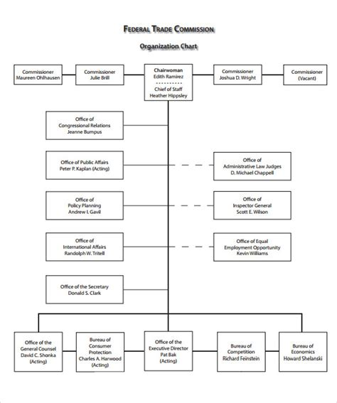 organizational chart template doc sle blank organizational chart 11 documents in pdf