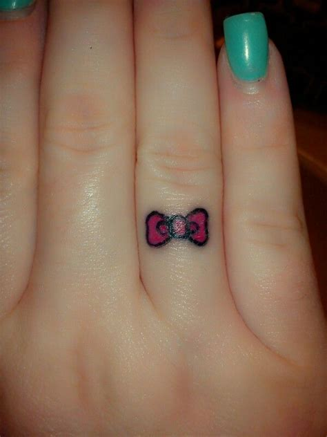 simple girly tattoos hello hello bow bow