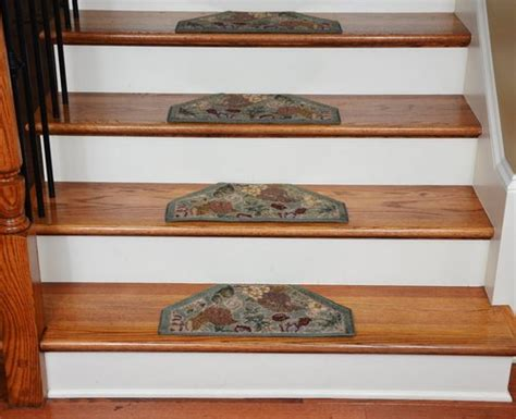 washable stair tread rugs washable non skid carpet stair treads mint green floral