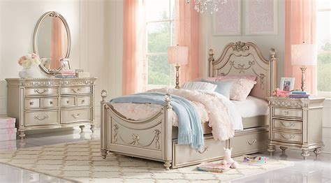 Princess Bedroom Set by Disney Princess Silver 5 Pc Poster Bedroom