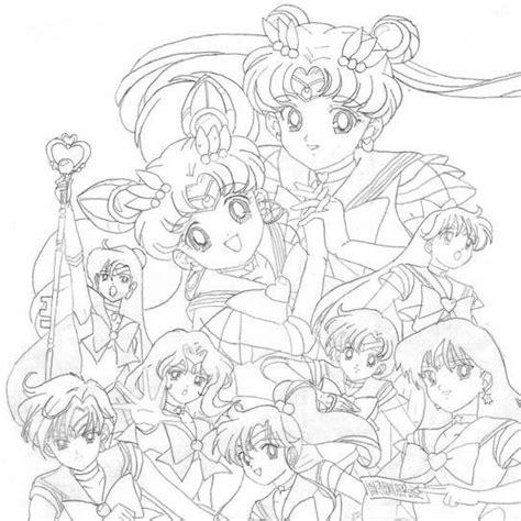 sailor scouts coloring pages