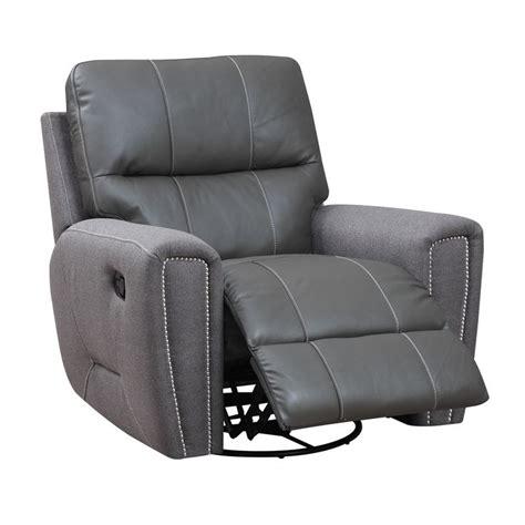 microfiber swivel recliner emerald grey leather and microfiber swivel glider recliner