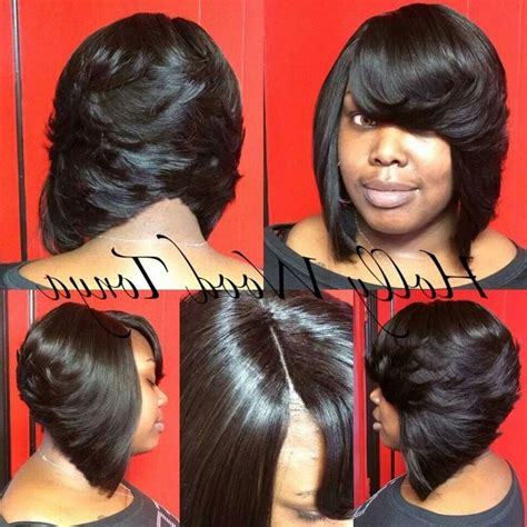 Feathered Bob Weave Hairstyles by Feathered Bob On Weave Bob