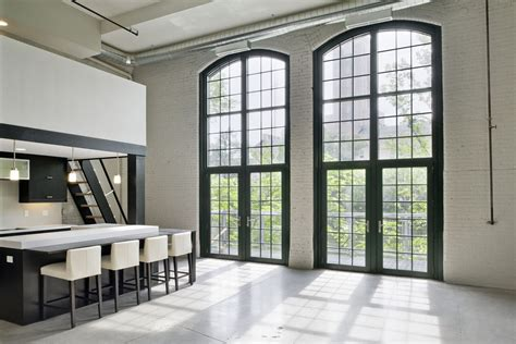 High Efficiency Windows Decor Minimalist Riverfront Loft In Pawtucket