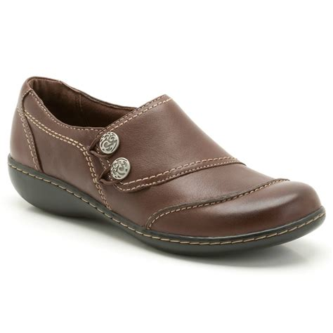 clarks embrace charm brown leather casual shoe