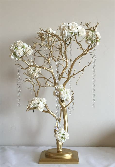 tree centerpiece 24 gold manzanita tree centerpiece wedding centerpiece