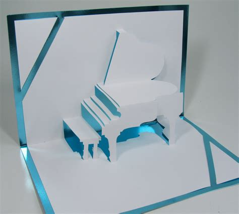 3d card templates grand piano 3d pop up card origamic architecture home