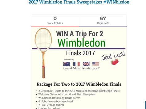 Tv Sweepstakes 2017 - 2017 wimbledon finals sweepstakes sweepstakes fanatics