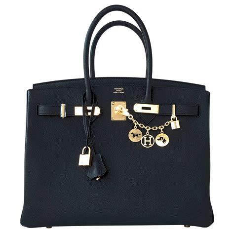 Black Birkin hermes black 35cm birkin gold hardware epsom bag power