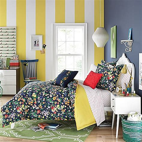 bed bath and beyond teen bedding teen vogue 174 folksy floral comforter set in navy bed bath