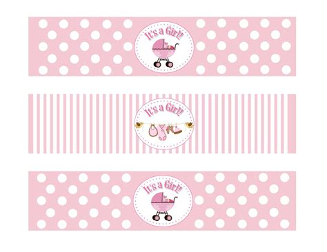 templates for baby shower labels baby shower water bottle labels vintage baby angel baby