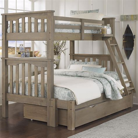twin over twin bunk bed with trundle ne kids highlands mission style twin over full harper bunk