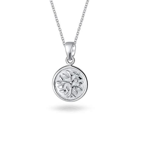 Sterling Silver Pendant Necklace reversible 925 sterling silver tree of pendant