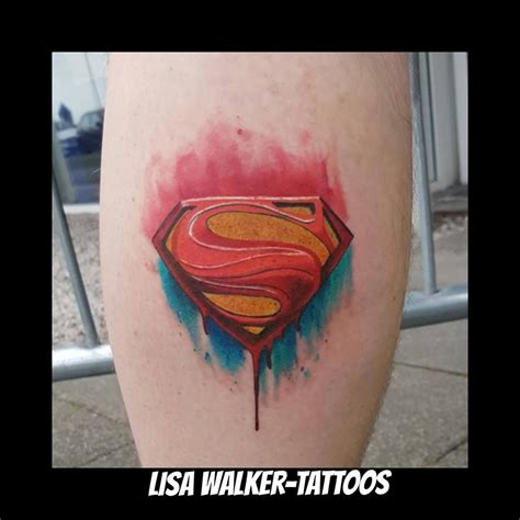 how are watercolor tattoos done watercolour superman logo done at cariad festival