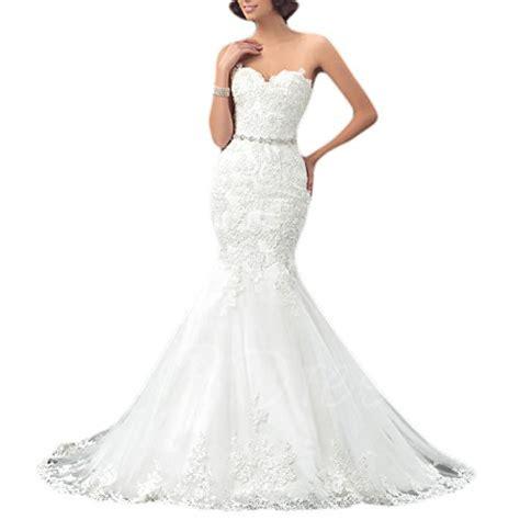 Found Ports Beaded Dress by Oyisha Womens Sweetheart Mermaid Wedding Dress Beaded