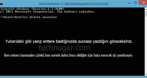 windows update tamamen kapatma technogar yazilim