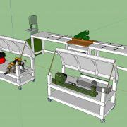 rolling work bench plans workbench plans tommy s rolling workbench and miter saw station