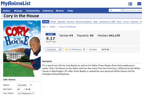 cory in the house review petition petition to add quot cory in the house quot to myanimelist net