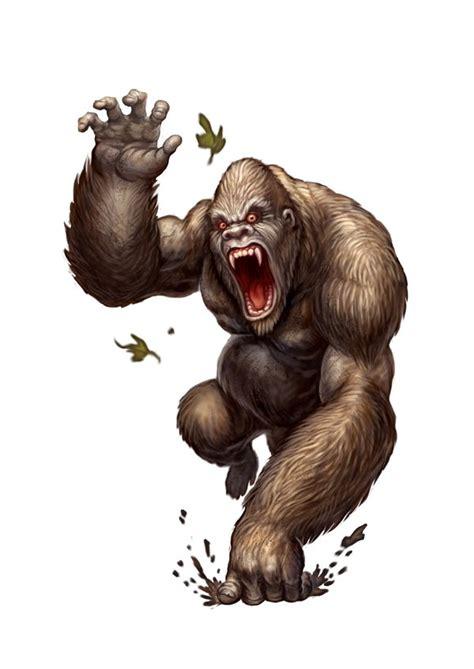 mean gorilla drawings