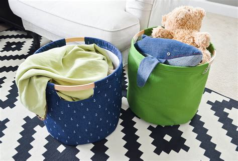 diy fabric storage box with a handle shelterness diy fabric storage bins project nursery