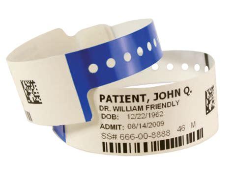 patient id wristbands patient identification labels