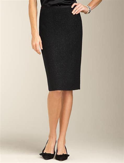 talbots sparkle tweed pencil skirt misses fashion