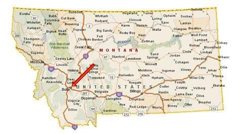 road map montana usa montana map us maps map usa images free