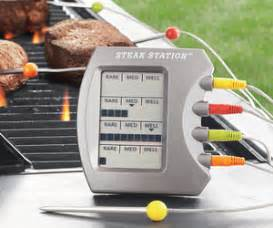 backyard grill digital meat thermometer kickstand bbq tools keep your grilling area neat the green head