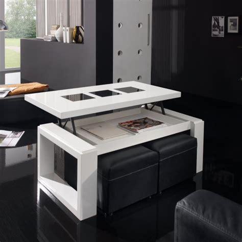 table basse bois blanche table basse relevable bois blanche deco et saveurs