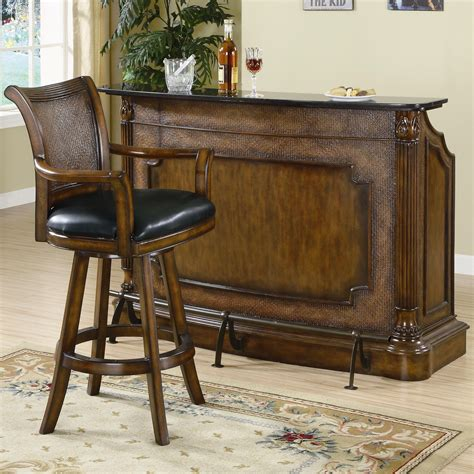 marble top bar buy clarendon traditional bar with marble top by coaster