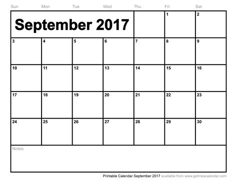 printable calendar template september 2017 printable calendar september 2017