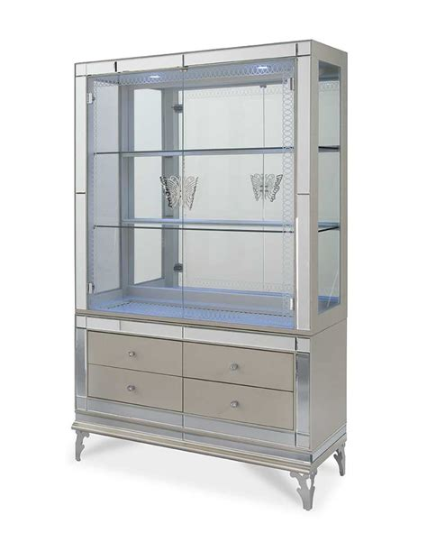 curio with drawers hollywood swank large dining by aico aico dining