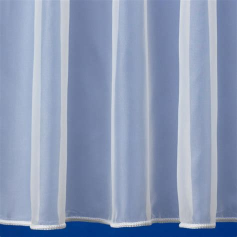 weighted voile curtains plain express white voile curtain from net curtains direct