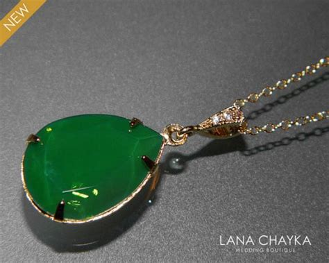 green opal necklace palace green opal gold necklace swarovski green opal