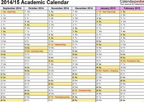 academic calendars 2016 2017 as free printable word templates