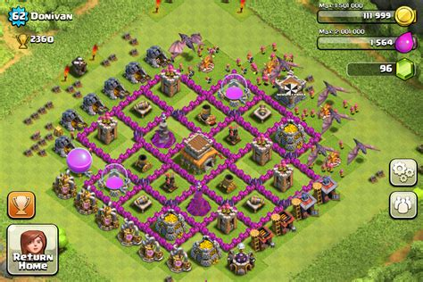 clash of clans defense town hall level 7 top 10 clash of clans town hall level 8 defense base design