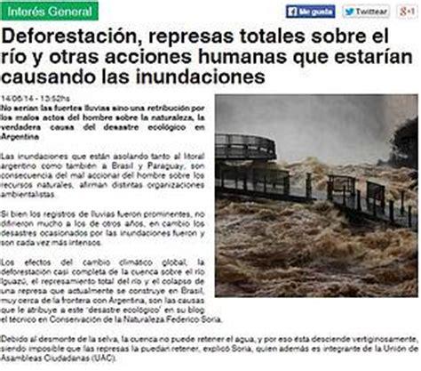 Comentarios De Noticias Y Articulos Deforestaci 243 N Represas Totales Sobre El R 237 O Y Otras Acciones Humanas Que Estar 237 An Causando Las