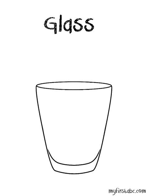 glass coloring page my first abc