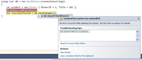 invalid name pattern sql exception entity framework exception invalid object name c