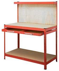 work bench amazon 1 drawer powder coated work bench amazon co uk kitchen